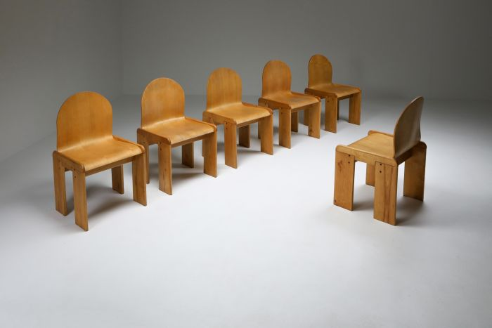 Plywood Dining Chairs by Afra & Tobia Scarpa - 1970s
