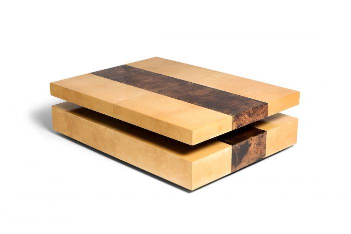 Aldo Tura Two-Tier Sliding Coffee Table - 1970s