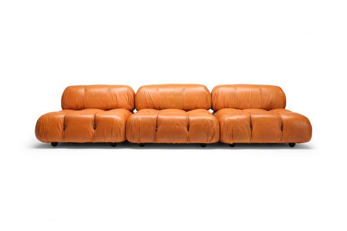 Camaleonda Sectional Sofa in Original Cognac Leather - 1970s