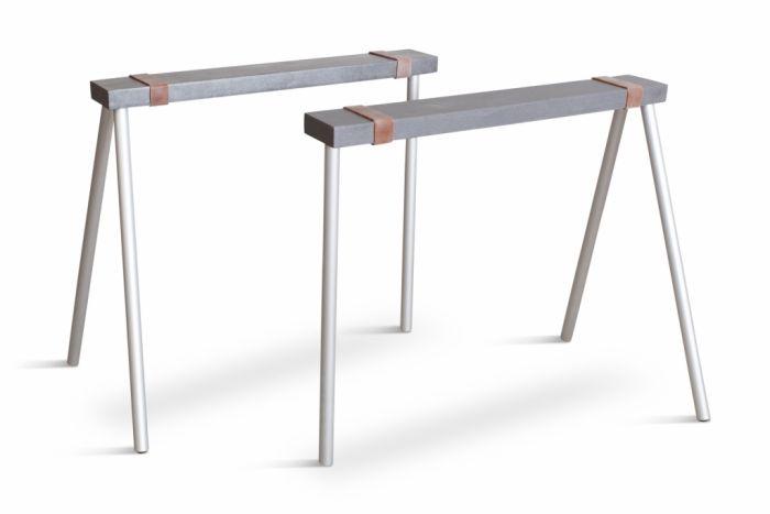 Modern Steel Table Base Trestle, Maarten Van Severen - 1990s