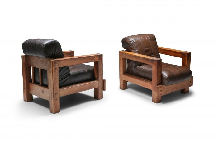 Midcentury Wooden Lounge Chairs - 1960s