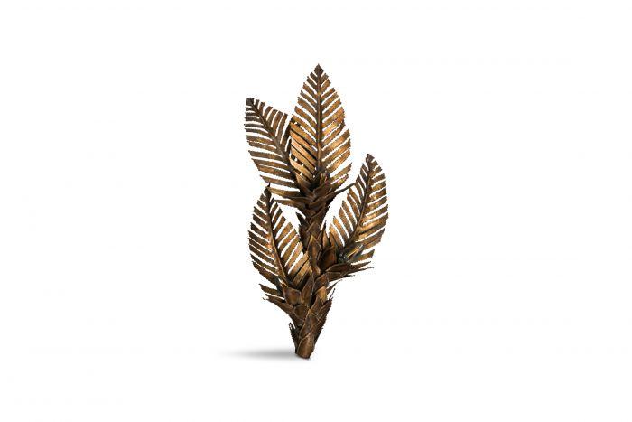 Maison Jansen Brass Palm Tree Sconce - 1970s