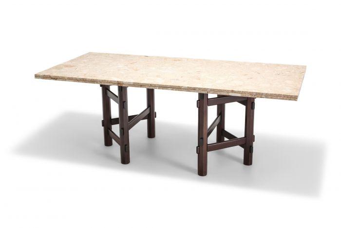 Modern Terazzo Marble Dining Table by Jan Vlug, Belgium, 1970s