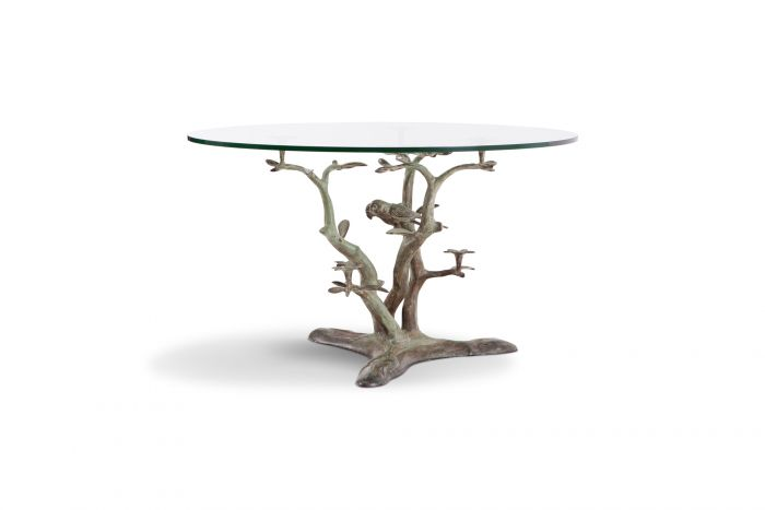 Bronze Coffee Table With Glass Top, Willy Daro - 1960s