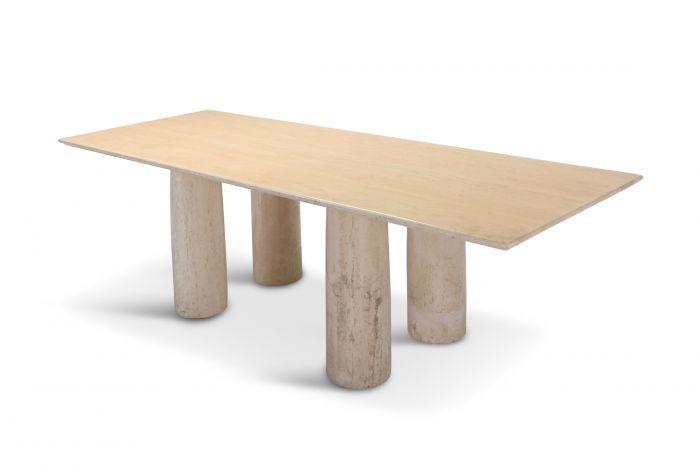 Travertine Dining Table by Mario Bellini 'Il Colonnato' - 1970s