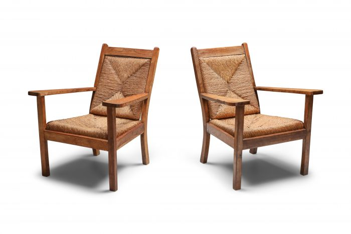 Rustic Modern Chairs 'Worpswede' - 1960s