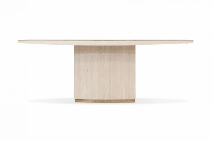 Travertine Dining Table, Willy Rizzo - 1970s
