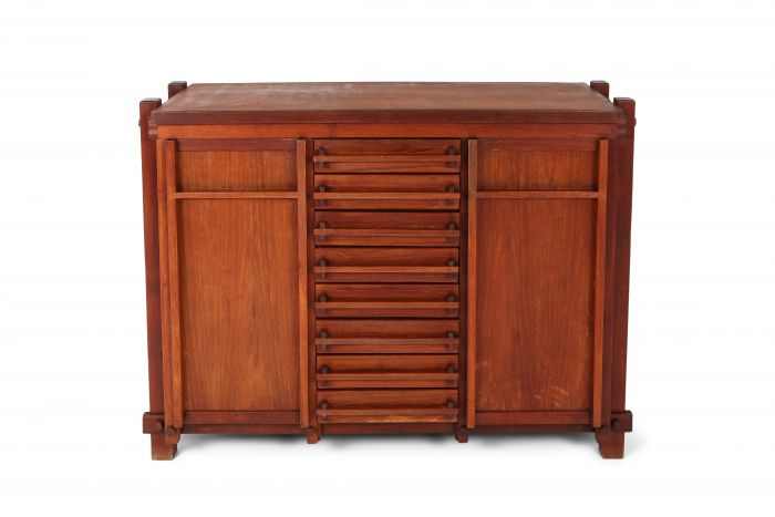French Elm Cabinet In The Style Of Pierre Chapo - 1960s