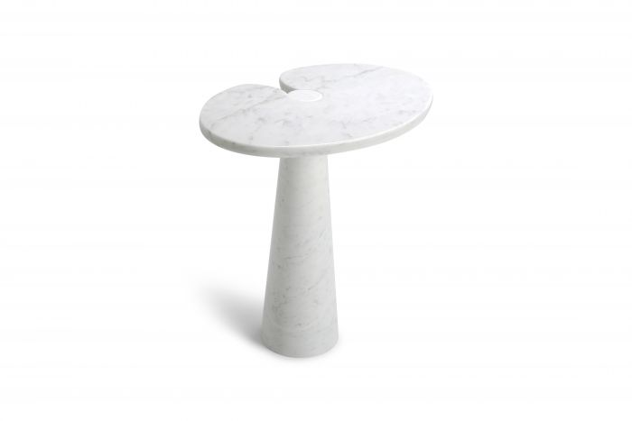 Eros White Carrara Marble Side Table by Angelo Mangiarotti for Skipper - 1970s