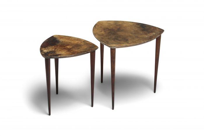 Aldo Tura Pair Of Side Tables - 1970s