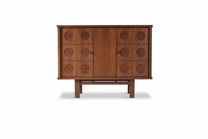 Belgian Brutalist Oak Cabinet - 1970s