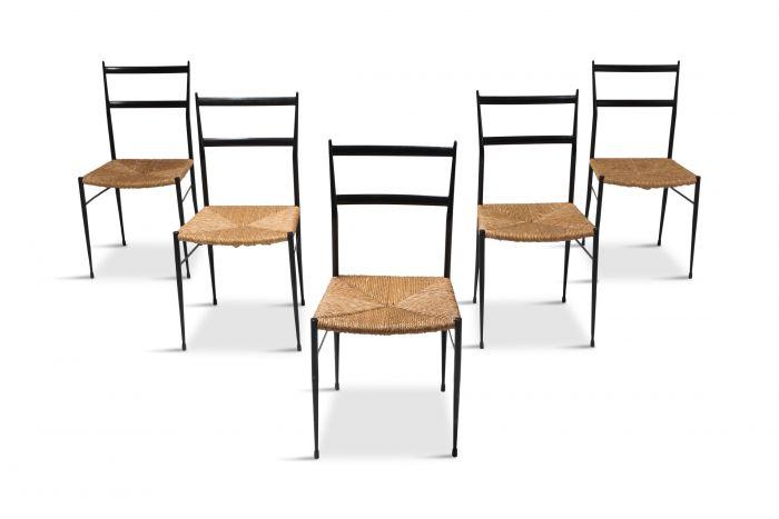 Gio Ponti Superleggera Dining Chairs Edition 'De Bijenkorf' - 1969
