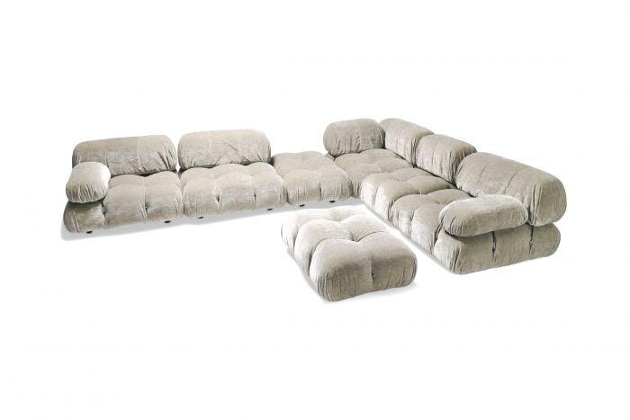 Velvet Sectional Sofa Model 'Camaleonda' by Mario Bellini - 1970s