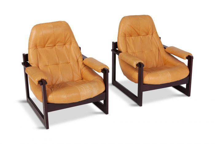 Percival Lafer Brazilian Lounge Chairs - 1970s