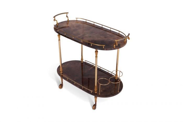 Aldo Tura Lacquered Bar Cart - 1960s