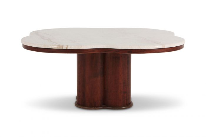 Jean Royere Style Travertine Coffee Table - 1950s