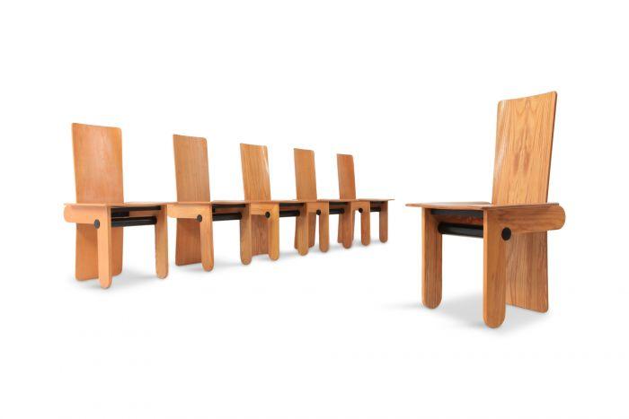 Carlo Scarpa Dining Chairs For Gavina - 1974