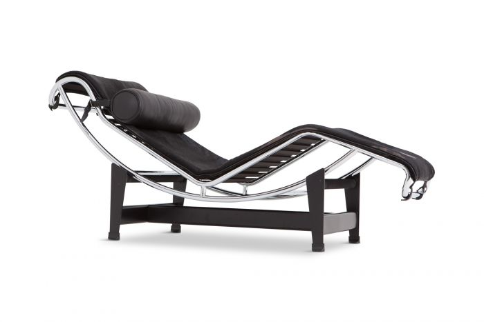 Le Corbusier Lounge Chair LC4 Pony Hide Black For Cassina - 1980s