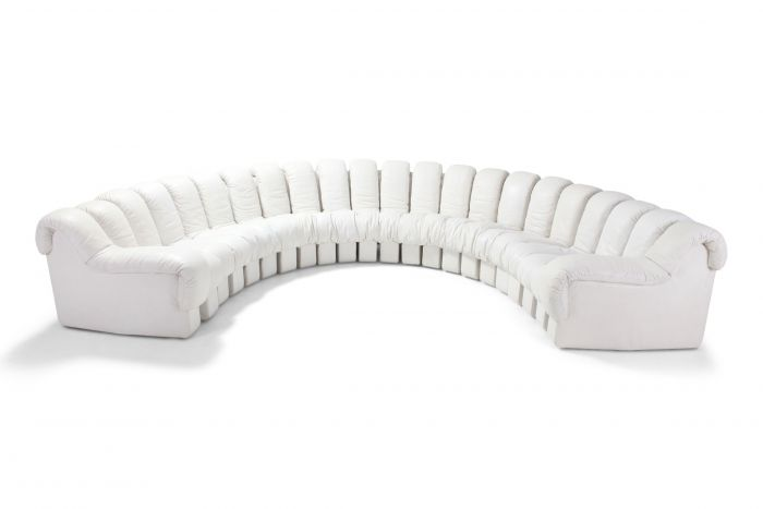 Non Stop 'Snake' Sectional Sofa DS-600 by De Sede Switzerland - 1980s