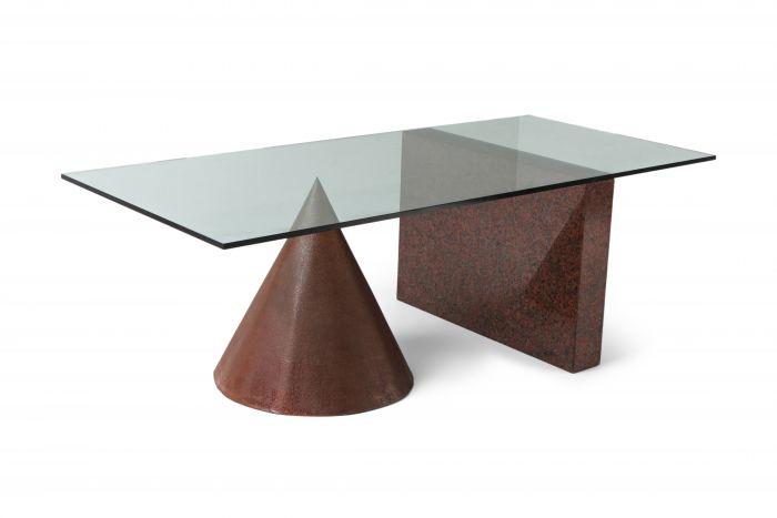 Kono Dining Table by Lella & Massimo Vignelli for Casigliani - 1980's