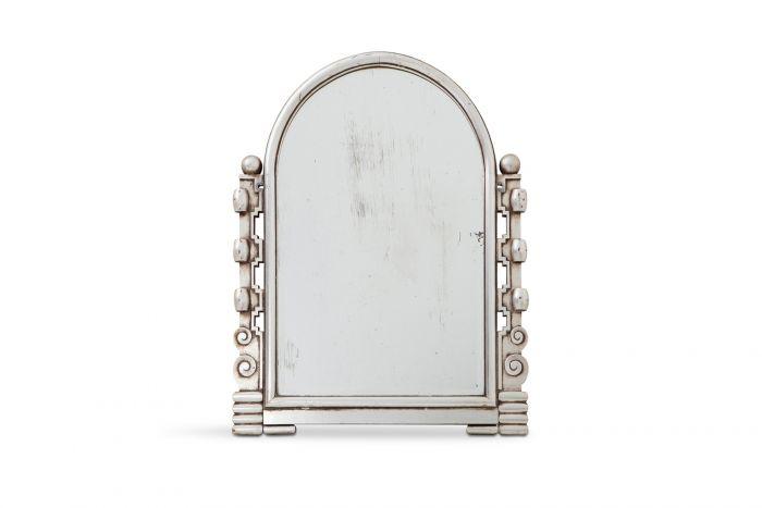 Silver Art Deco Giltwood Mirror - 1930s