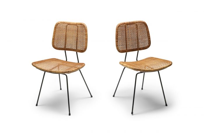 Bamboo Rattan 1950s Dining Chair - 1950s