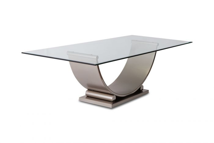 Belgo Chrom Table In Brushed Steel - 1970s