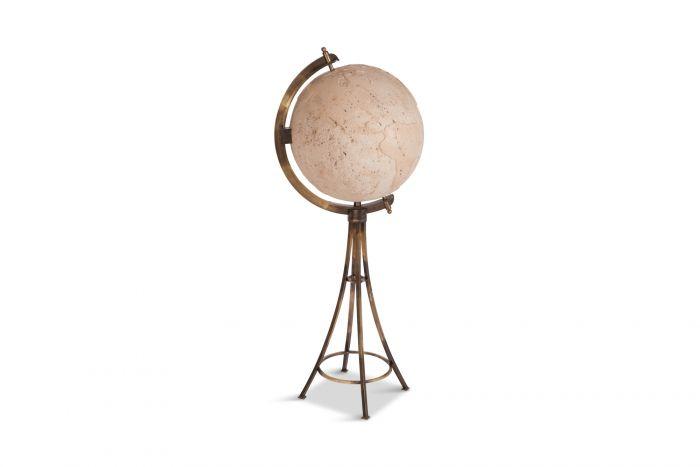 Maison Jansen Brass 'Moon' Globe Bar - 1980s
