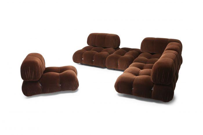 Camaleonda Sectional Sofa by Mario Bellini In Original Brown Velvet - 1970s