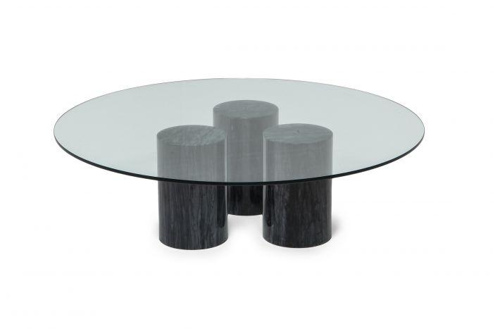 Mario Bellini Collonato Black Marble Coffee Table - 1970s