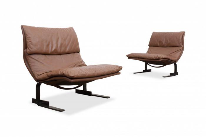 Saporiti Onda Wave Lounge chairs by Giovanni Offredi - 1970s