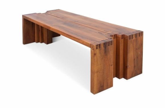 Large Italian Wooden Console Tables, Giuseppe Rivadossi - 1970s