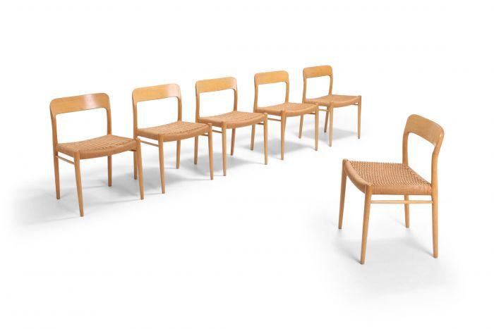 Scandinavian Modern Chairs in Oak by N.O. Möller for J.L. Mollers - 1970s