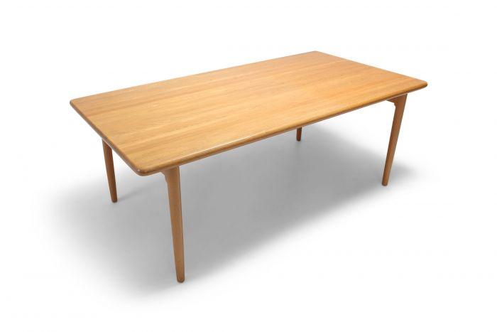 Scandinavian Modern Dining Table in Oak by N.0. Möller for J.L. Moller - 1970s