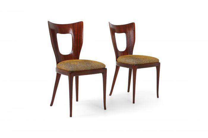Osvaldo Borsani Dining Chairs in Mahogany - 1950s
