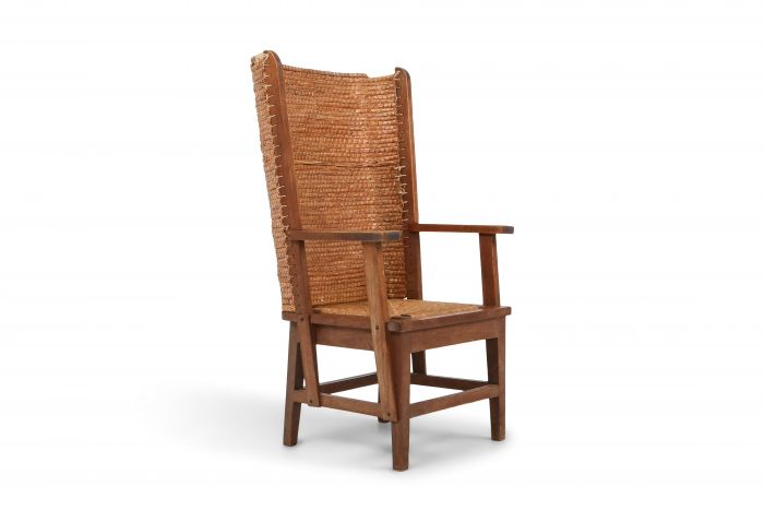 Oak Framed Orkney Chair with Cord - 1940s