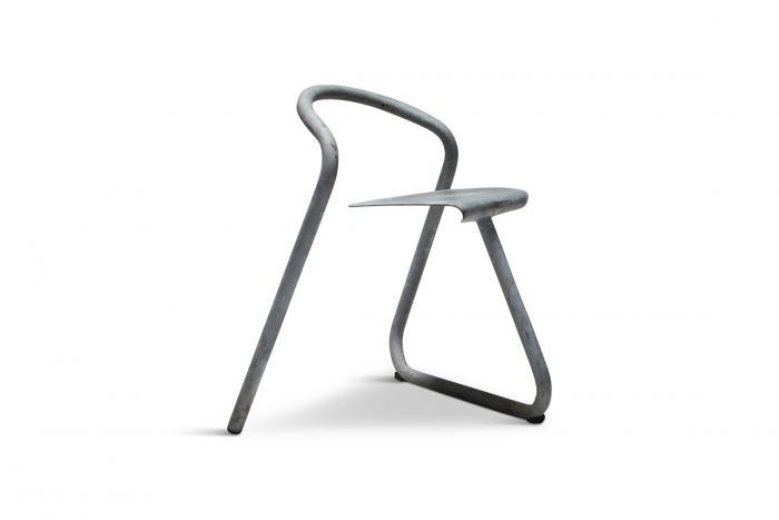 Danish Stackable Chairs in Galvanized Steel by Erik Magnussen - 1989