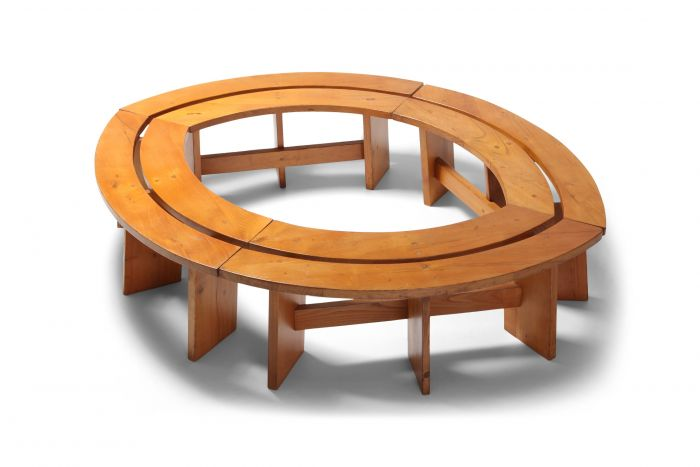 Pierre Chapo Curved Benches in Elmwood - 1960s