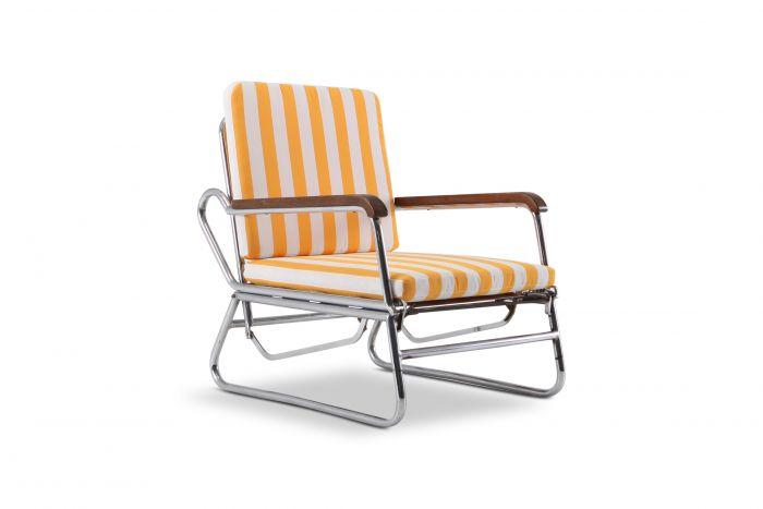 Tubular Chrome Lounge Chair - 1950s