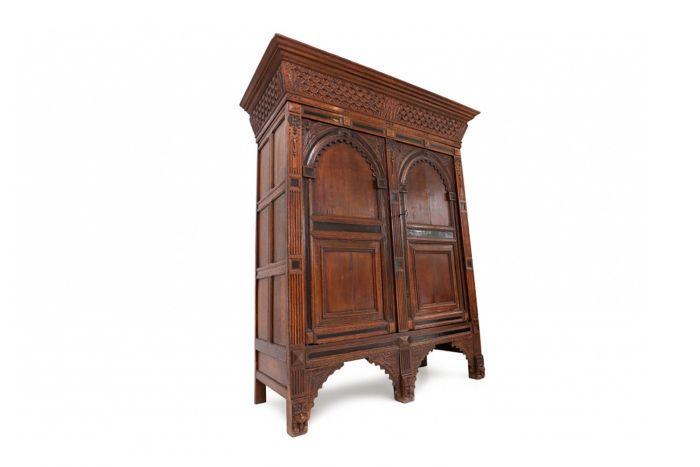 Dutch Renaissance Cabinet In Oak - 1700s