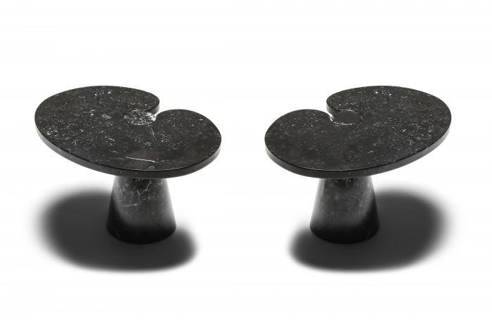 Mangiarotti black marble Side Table 'Eros series' for Skipper - 1970's