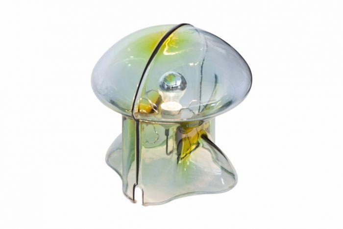 Rare Italian Glass Table Lamp Medusa, Umberto Riva - 1970s