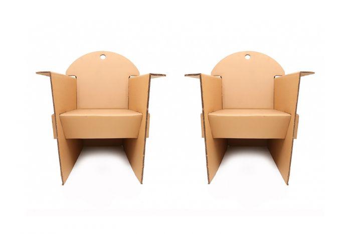 Eco-Design Cardboard Armchairs, Olivier Leblois - 1993