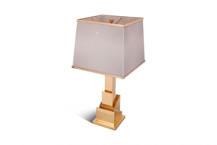Brass Table Lamp Skyscraper, Romeo Rega - 1970s
