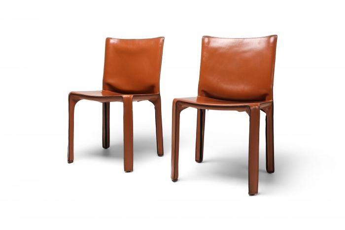 Mario Bellini's CAB Chair in Cognac Leather For Cassina - 1970s