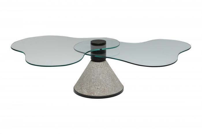Postmodern Coffee Table in the Manner of Saporiti - 1980s