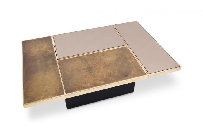 Bronze Coffee Table, Willy Rizzo - 1970s