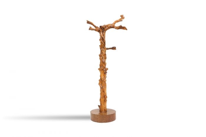French Grape Wood Coat Stand - 1930s