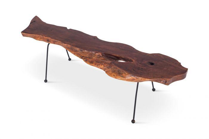 Wabi Sabi Style Coffee Table in Organic Walnut - 1960s