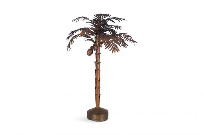 Maison Jansen Palmtree Floor lamp in Copper - 1970s